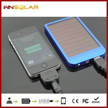 Portable mobile 2600mah solar power charger Travelling Solar panel charger cheapest solar power bank for Mobile phone