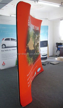 10ft*10ft double fabric pop up display,fabric wall with curved shape
