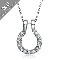 factory direct sale 925 sterl silver jewelry pendant with cz stone