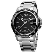 NO 7147 Black Dial Stainless Steel Back Own Brand watch quartz men