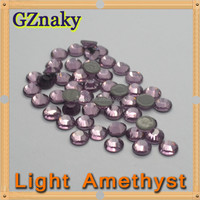Top Quality ss10 LIGHT AMETHYST flatback hot fix rhinestone iron on transfer Garment beads CRYSTAL GLASS ROUND STONE BEADS