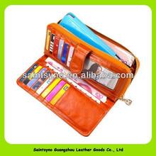 13192 Newest design large capacity genuine leather purses and handbags