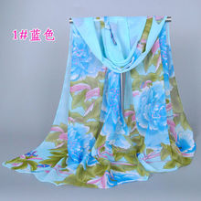 New Design Flower Women Silk Scarf Fashion Scarves Shawl 160*50 Pashimina
