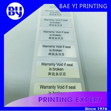 Custom Warranty Security Tamper Evident label sticker