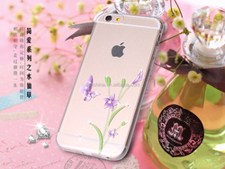Factory direct wholesale Ordinary Love Series IMD Intramode Soft TPU Case with diamond for iPhone 6S/6S Plus