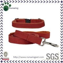 Eco-Friendly Linen Hemp Dog Collar And Dog Leash