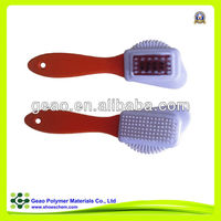 boot cleaning brush for leather shoes with rubber and brass head