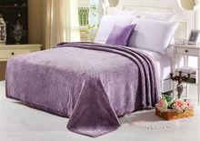 Hot sale summer quilts,velvet embroidery design bed sheet