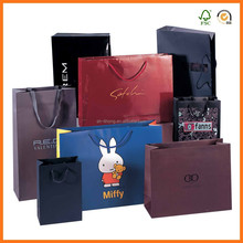 luxury custome paper carrier bags with rope handles