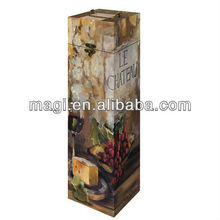 vintage french style wooden case for wine bottle