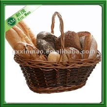 wholesale wicker bread basket with long handle