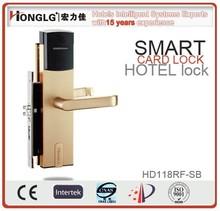 Aluminum alloy swipe card hotel door lock with program