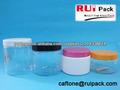 Vazio frasco recipiente, jarra plástica cosmética, frascos pet, 50/100,/150/200g