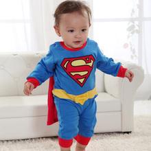 Superman suit fancy dress superhero costume jumpsuit for baby toddler kid boy romper gift SV000172#