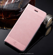 Mobile phone case filp leather pu stand cover for iphone 6