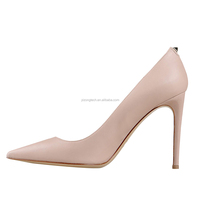 JUSITY Hot Sell China New Arrival Pointed Toe Nude High Heel Mature Women Shoes 2015