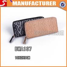 2014 nueva moda cartera de pitón de fabricación