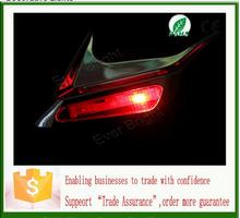 New Solar side decoration lamp Solar Powered Car Shark Cheek LED Warning Flash Tail Light Traffic Alert Decorative Lights