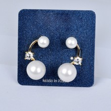 Women Accessory Wholesale High Quality White Gold Plated Latest Pearl Earring