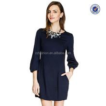 2015 latest plain dress designs different short dress styles women straight dress for office