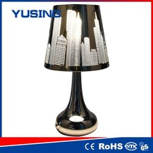 Hot selling 100-240v retro style stainless steel touch table lamp combo