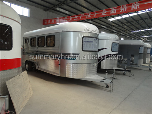 Hot sale horse trailer/float deluxe model (2 horse trailer and 3 horse trailer)