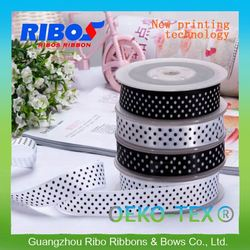 Direct Wholesale On Pinted Polk Dots Printed Grosgrain Ribbon