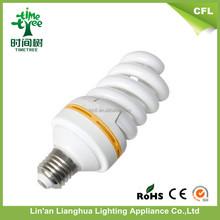 Tricolor Full Spiral 8000h 17mm 73W 5.5T U Shape Energy Saving Light Bulb/Style Energy Saving E27 73w Led Lighting Bulb