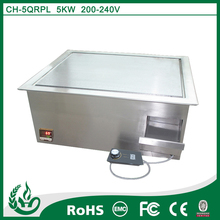 No radiation commercial japanese and teppanyaki electric griddle