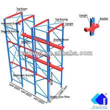 Adjustable steel storage rack shelves, Nanjing Jracking CE & ISO 9001 for long objects Drive in racks