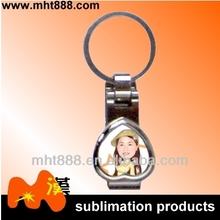 los espacios en blanco de la sublimación clave anillo a72 sublimación de anillos de metal clave