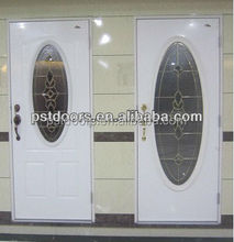 sunburst entry glass door, commercial steel glass door
