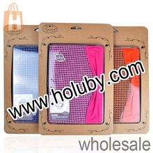 Houndstooth Bowknot Pattern Multi-angle Protective Stand Leather Case for iPad Mini 2 Retina, For iPad Mini 2 Retina Case