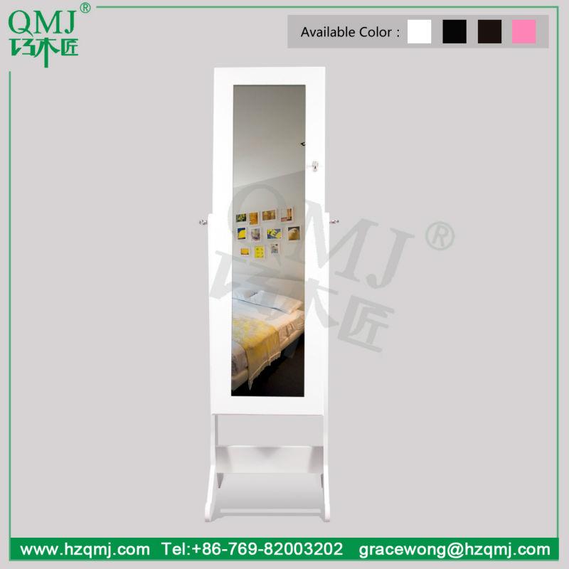 Mobiliario de sala de joyer a de madera armario con espejo for Espejo cuerpo entero precio