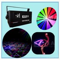 25kpps scanning speed,ILDA+SD+ Mutil-Functional 1.2W rgb full color laser light/analog modulation laser/stage light/lazer light