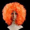 Hot sale cheap orange party afro curly wigs for carnival
