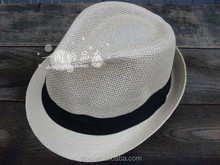 Wholesale Colorful Braid Straw trilby Fedora Hat for Men Women S-0019