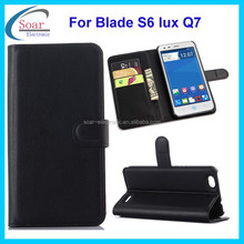 for ZTE Blade S6 Lux Q7 wallet case,leather magnetic flip case cover for ZTE Blade S6 Lux Q7