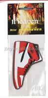 2015 Sport shoes paper car air fresher /freshener/freshner 1pk