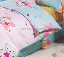 2015 new design 100% Polyester disperse fabric with cartoon print for children Bed Sheets