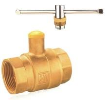 Floating/kitz Brass ball valve with lock