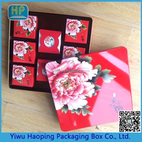 big flower shaped tin box for packaging mooncake mental box gift container