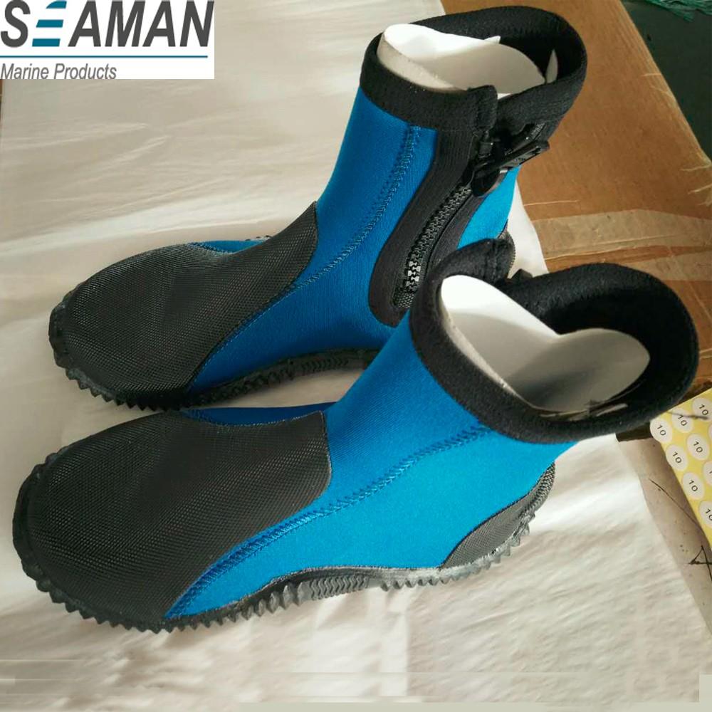 5mm Warm Neoprene Hi Top Zipper Water Shoes Boots For