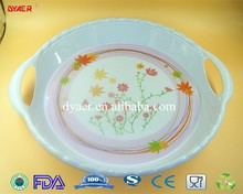 factory direct price round plastic serving tray wholesale