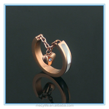 MECY LIFE factory wholesale high-end stainless steel opening 18k rose gold plated woman delicate factory custom rings
