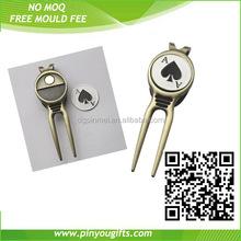 Golf magnetic divot tools with custom logo ball markers/ cheap price golf divot tools ball markers
