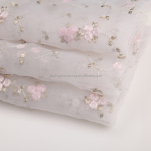 Chinese supplier mesh embroidery lace fabric