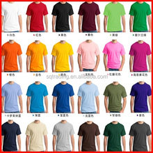 High quality preshrunk cotton t shirt with reactive dyeing technics
