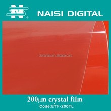 transparent pet crystal clear laminating film 200mic