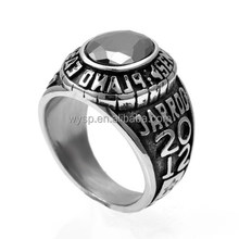 Custom race champion Stainless Steel gemstone ring